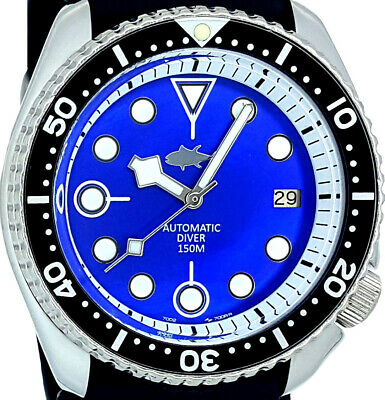 $ CDN10.15 • Buy Vintage Watch SEIKO Diver 7002 Mod W/Snowflake Hands * Blue Mother Of Pearl Dial
