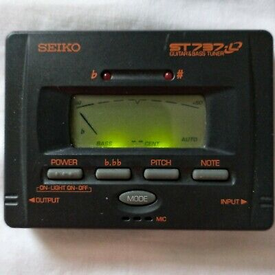 $ CDN12.49 • Buy Seiko ST757 ST737 Guitar Bass Tuner Chromatic Electronic Tuner Tested Works