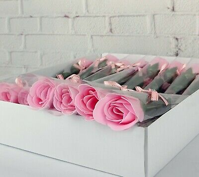 AU29.90 • Buy 38Pcs Pink Bath Artificial Rose Soap Flower Mother's Day Valentine's Day Gift
