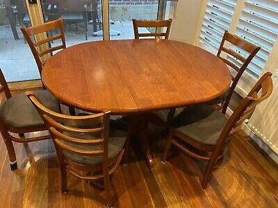AU10 • Buy Dining Table And Chairs (brown) - Good Conditions