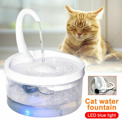 £22.75 • Buy 2L Automatic Electric Cat Water Fountain Dog Pet Drinking Dispenser + LED Light