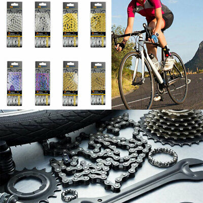 AU26.29 • Buy Mountain Bike MTB/Road Bicycle Chain 8/9/10/11 Speed 116 Links Hollow Chain AU