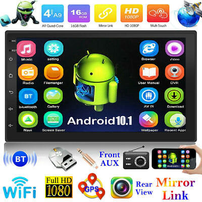 AU129.99 • Buy 7 Inch 2 DIN Car Stereo Android 10.1 MP5 Player WiFi GPS FM Radio USB Head Unit~