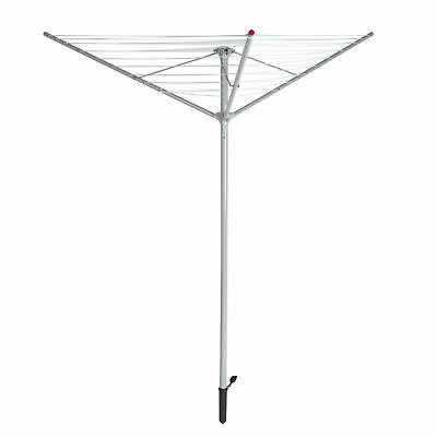 £21.99 • Buy 3 Arm 30M Rotary Airer Clothes Garden Washing Line Dryer Folding Outdoor Spike