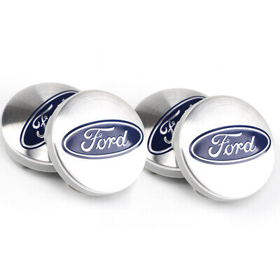 £7.49 • Buy SET Of 4 SILVER Ford 54mm Alloy Wheel Centre Caps Focus Mondeo Fiesta Galaxy