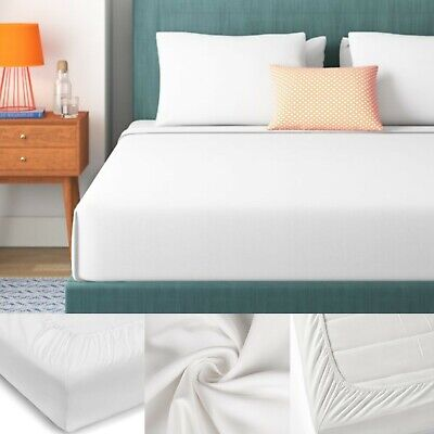 £16.99 • Buy Extra Deep 600 Thread Count Bed Sheets Egyptian Cotton Fitted Sheet Double King