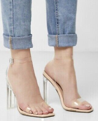 £10 • Buy Missguided BNWT Clear Strappy Shoes As Seen In Campaign Sz 3,4,5