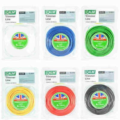 £7.66 • Buy ALM 4 Times Longer Lasting Garden Strimmer / Strimming Trimmer Cord Cable Line