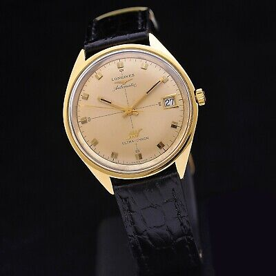 £1624.42 • Buy Longines Ultra-Chron 70s 18 Carats Gold 37 MM Ref 7950 Automatic Serviced + Box