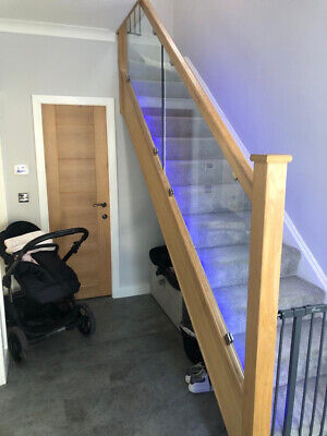 £750 • Buy Solid Oak Staircase Glass Banister Kit Set. Not Including Glass.
