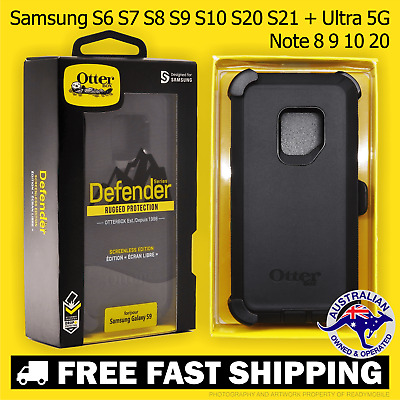 AU42.50 • Buy OtterBox Defender Samsung S6 S7 S8 S9 S10 S20 S21 + Ultra 5G Note 8 9 10 Case