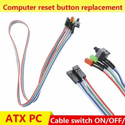 £2.46 • Buy 65cm ATX-Power ON/OFF Reset-Switch With Power LED HDD PC Desktop-Computer-Cable