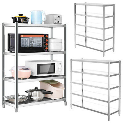 £155.94 • Buy 4/5Tier Stainless Steel Storage Shelving Commercial Kitchen Shelf Storage Rack