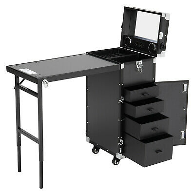 £319.95 • Buy Foldable Portable Mobile Manicure Nail Table Vanity Makeup Case With Bluetooth