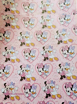 DISNEY MINNIE MOUSE & DAISY DUCK  Wrapping Paper Birthday 2m • 3.99£