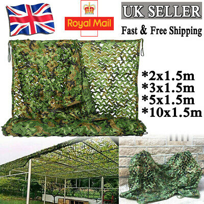 Camouflage Net Camo Hunting Shooting Hide Army Camping Tent Woodland Netting • 15.49£