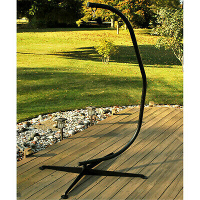 £105.93 • Buy Solid Hammock C Stand Portable Hanging Chair Stand Outdoor Patio Swing Leisure