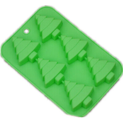 £4.19 • Buy Silicone Christmas Tree Chocolate Cake Soap Ice Tray Wax Mold Baking Mould LC