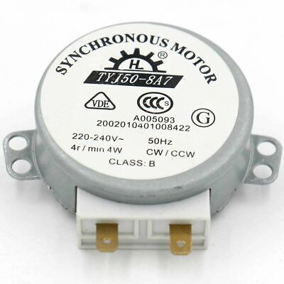 £6.99 • Buy Synchronous Motor TYJ50-8A7 220-240V AC 4R/Min CW/CCW 50Hz For Microwave Oven