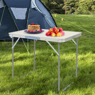 £19.95 • Buy 2.3ft Folding Portable Camping Table Wooden Mdf Outdoor Dining Bbq Picnic Party