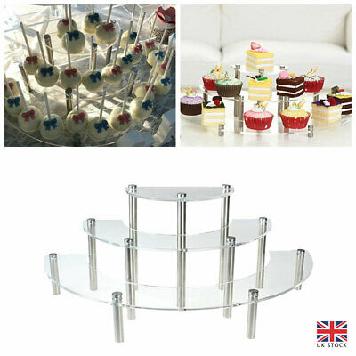 £21.21 • Buy 3-layer Cupcake Stand Acrylic Display Stand For Jewelry Cake Rack Party Decors