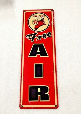 £32.73 • Buy 18  Texaco Oil Gas Station Company Free Air FIRE Chef Heavy Metal Decor AD Sign