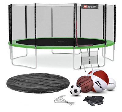 £883 • Buy Green Round Garden Trampoline 16 FT NE For Jumping & Playing In A Set + Gift