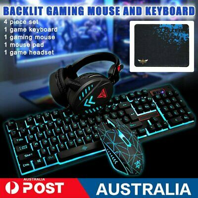 AU46.89 • Buy Gaming Keyboard Mechanical Keyboard And Wired Mouse Headset Three-piece Set AU