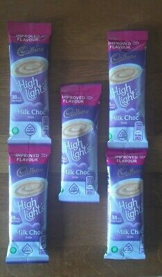 £4.49 • Buy Cadbury Highlight Instant Hot Chocolate Sachets 5 X 11g BRAND NEW Just Add Water
