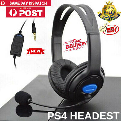 AU16.69 • Buy Gaming Headset PS4 Earphones Wired 3.5mm Headphones For Xbox One W/Mic