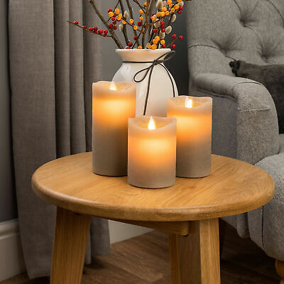 £11.99 • Buy 3Pc Flickering LED Candles Battery Powered Lights Remote Control Atmosphere Lamp
