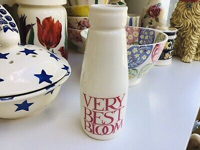 £24 • Buy EMMA BRIDGEWATER Pink Toast Roses All My Life Small Milk Bottle 2nd Quality No 2