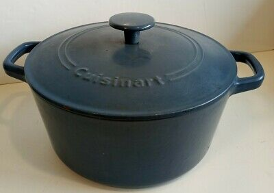 $ CDN27 • Buy Cuisinart Dutch Oven With Lid 5qt 4.8L Cast Iron  Coated Preowned