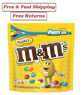 $12.79 • Buy M&M'S Peanut Chocolate Candy, 38-Ounce Party Size Bag, Yellow