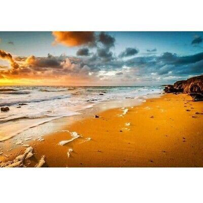 AU17.99 • Buy DIY 5D Full Drill Diamond Painting Arts Embroidery Sunset Beach Cross Stitch Kit