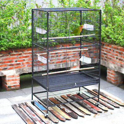 £89.95 • Buy Moving Extra Large Bird Parrot Cage Play Stand Canary Cockatiel Finch Activity