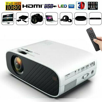 12000 Lumens 1080P 3D Home LED Projector Video Home Theater HDMI/USB/SD/VGA GB • 58.48£