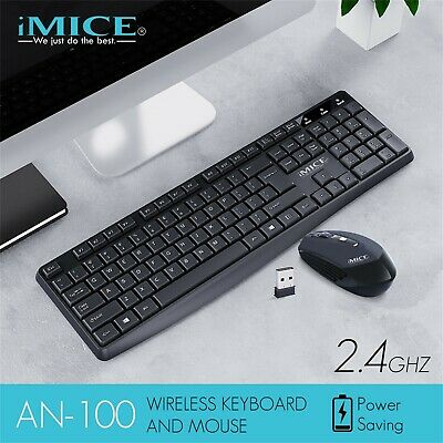 AU37.99 • Buy AN-100 Wireless Gaming Keyboard And Mouse Kit 104 Keys Sensitive For Office Game