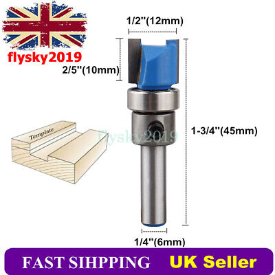 """£4.89 • Buy 1/4"""" Shank Mortise Template Flush Trim Router Bit Wood Woodwork Cutting Tool"""