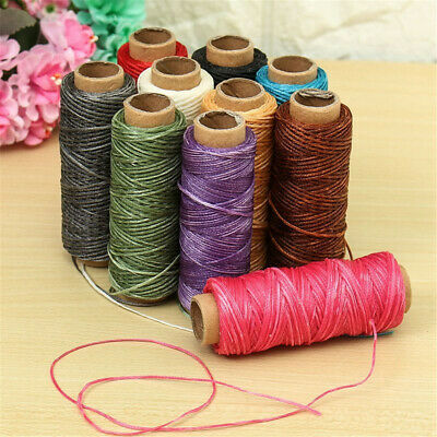 £3.14 • Buy 30m/roll Waxed Thread Cotton Cord String Strap Hand Stitching Thread For Leather