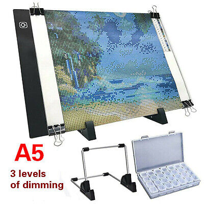 £12.95 • Buy For Diamond Painting USB Powered Light Board Kit W/ Stand A5 LED Light Pad UK