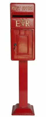 $278.06 • Buy Replica Red Royal Mail/Metal Post Box On Stand (119cmx26cm) Home/Wedding/Garden