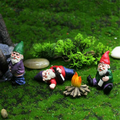 £7.26 • Buy Naughty Gnome Statue Garden Outdoor Decoration DIY Resin Ornaments Funny UK