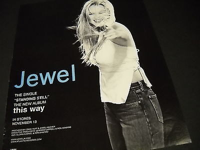 $ CDN12.53 • Buy JEWEL Kilcher Points At The Camera For THIS WAY 2001 PROMO POSTER AD Mint Cond