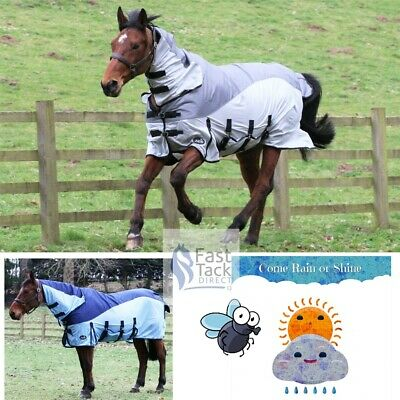 £43.95 • Buy Horse Fly Rug With Waterproof Top Panel | Combo Neck | Dual Lightweight Turnout