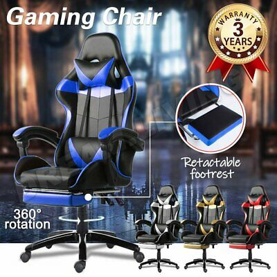AU99 • Buy Gaming Office Chair Executive Tilt Computer Chairs Seating Racing Recliner AU