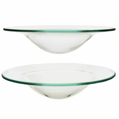 £5.98 • Buy 2 X Home Fragrance Oil Burner Replacement Glass Dish Spare Bowl Wax Melt 12CM