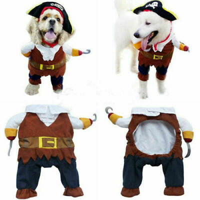 £5.99 • Buy Pet Dog Cat Pirate Halloween Clothes Party Fancy Dress Costume Outfit Clothes