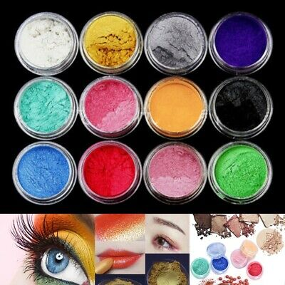 £3.19 • Buy 12Color Set Mica Pigment Powder Perfect For Soap Cosmetics Resin Colorant Dye UK