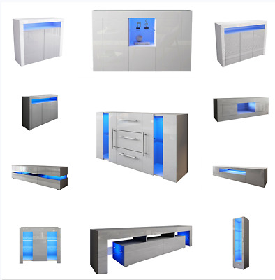 £209.99 • Buy 25 Patterns TV Stand Unit Cabinet Stand Sideboard Cupboard High Gloss Front LED